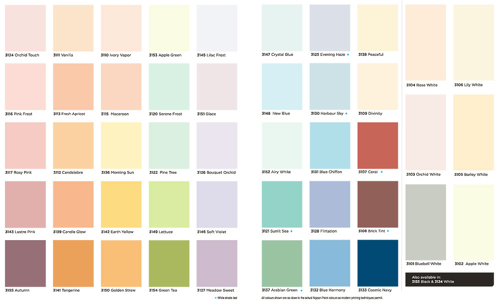Nippon paint colour chart - Nippon exterior paint decor ...